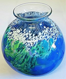 Glass vase By Bruce Cobb